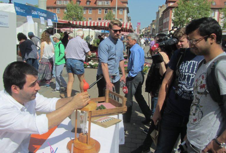 Markttage des Wissens Licht & Schatten in Erlangen, Foto: Kulturidee