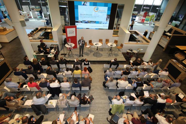 """Blick ins Panel """"Fair Play"""" beim 12. Wissenschaftstag 2018 in Fürth, Foto: Dreier"""